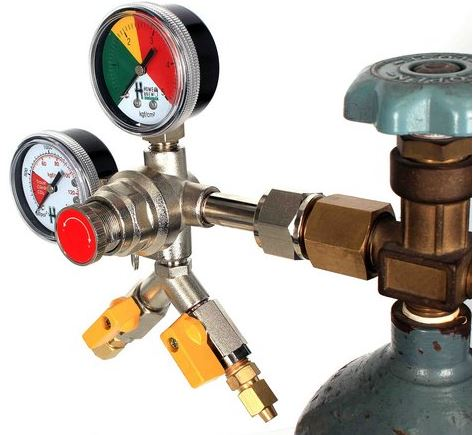 Manômetro - Regulador de pressão para Co2 - 2 vias
