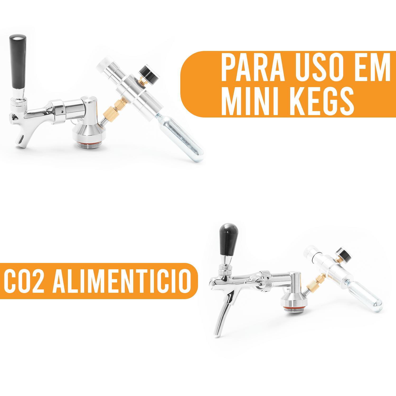 Mini Cilindro de CO2 16g - Pack de 6