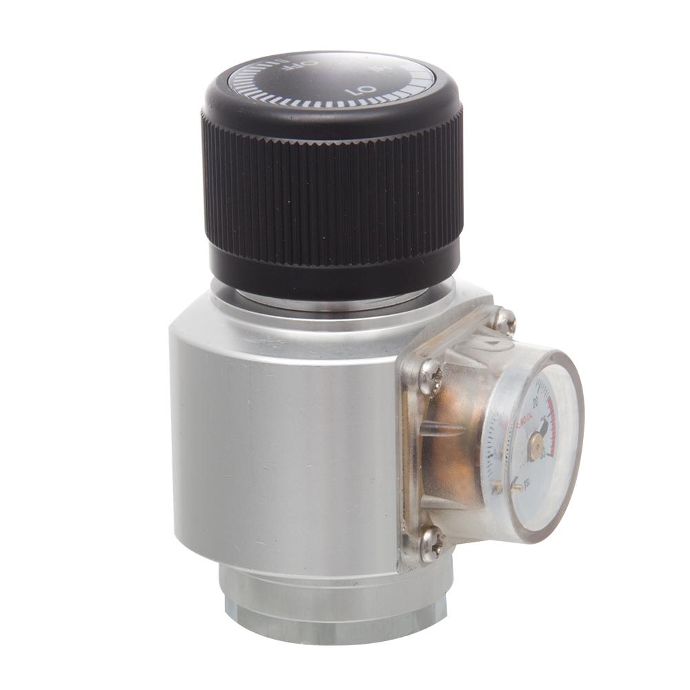 """Mini Reguladora Profissional de CO2 para cilindros de 16/25/32g c/ rosca 3/8"""" - 24UNF"""