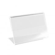 Kit Porta Preço Transparente 4x2,5cm - 50 Unidades