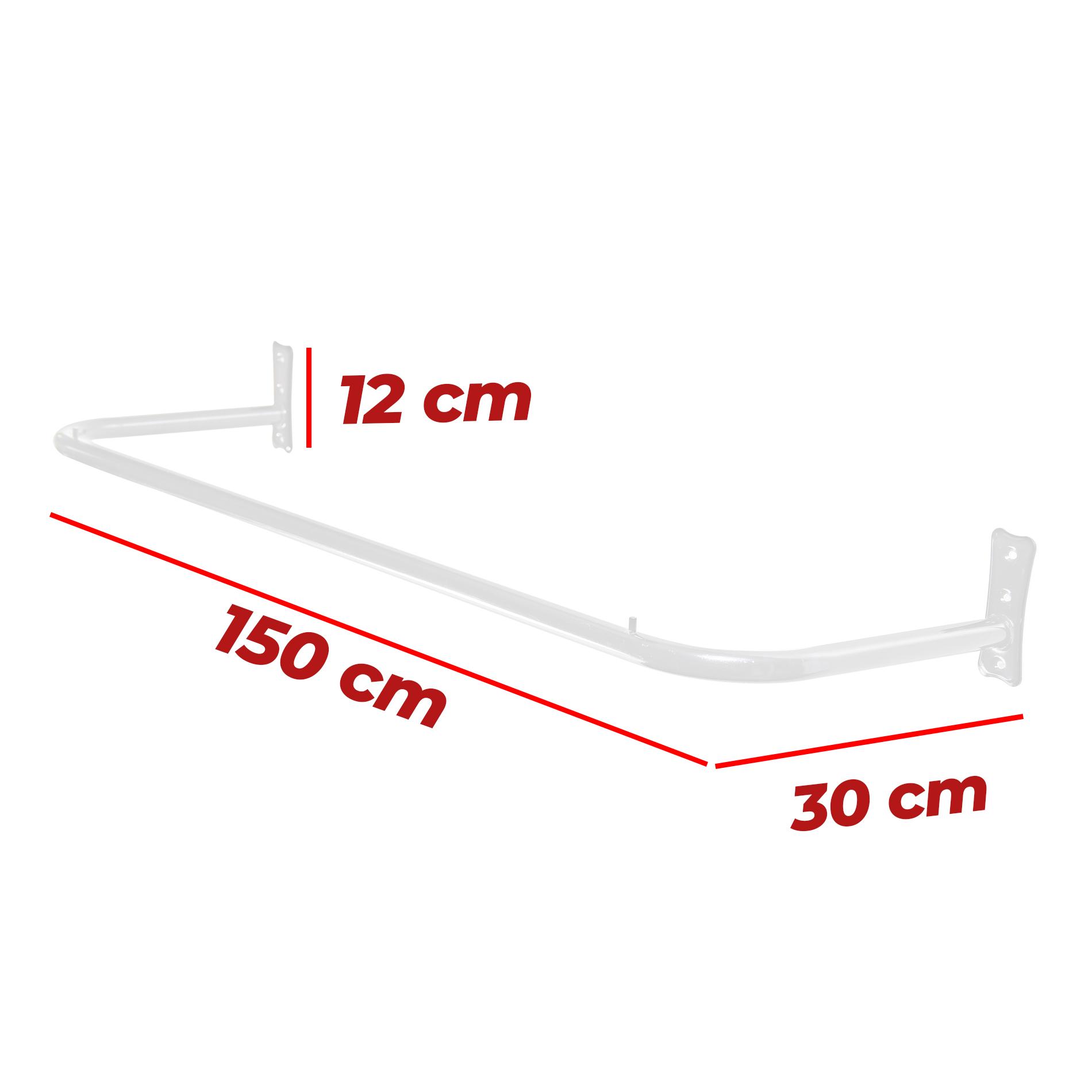 Arara Fixa de Parede 1,50mt
