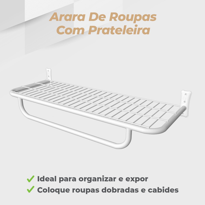 Arara Prateleira com Pingente 1,00mt