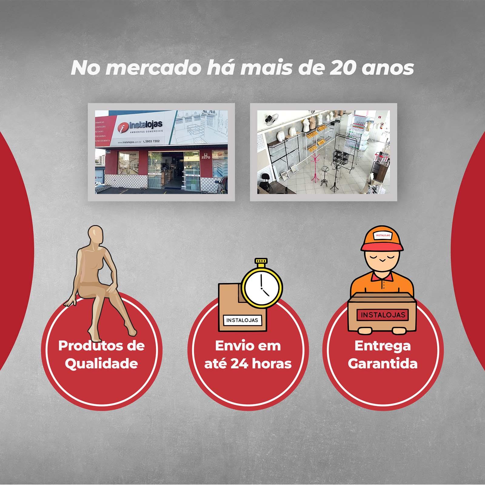 Cabide Boutique Giratório  Transparente - 12 Unidades