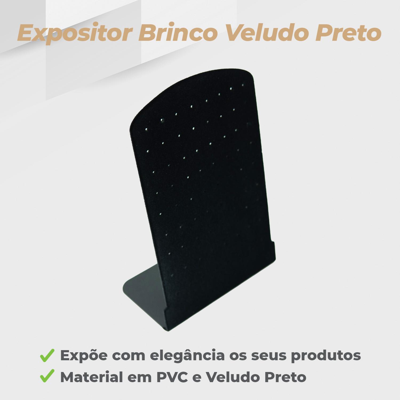 Expositor Brinco Veludo Preto