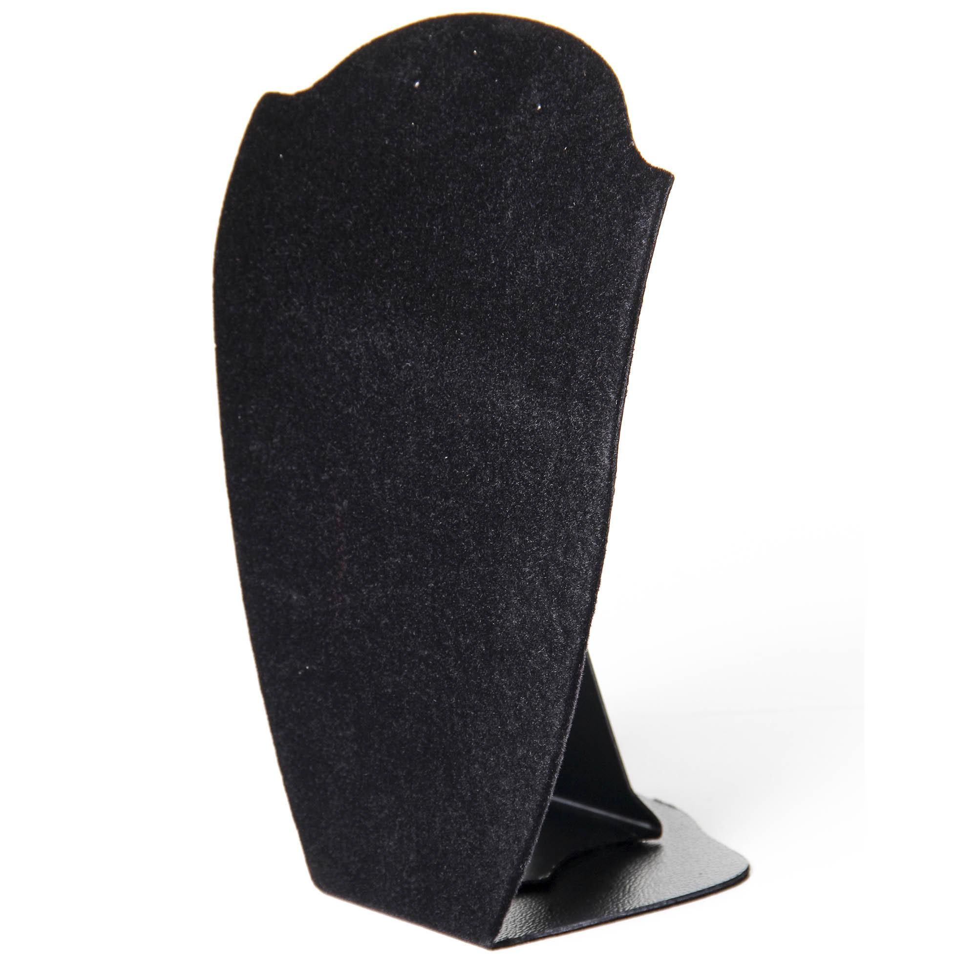 Expositor Colar e Brinco Busto Elegance Veludo Preto