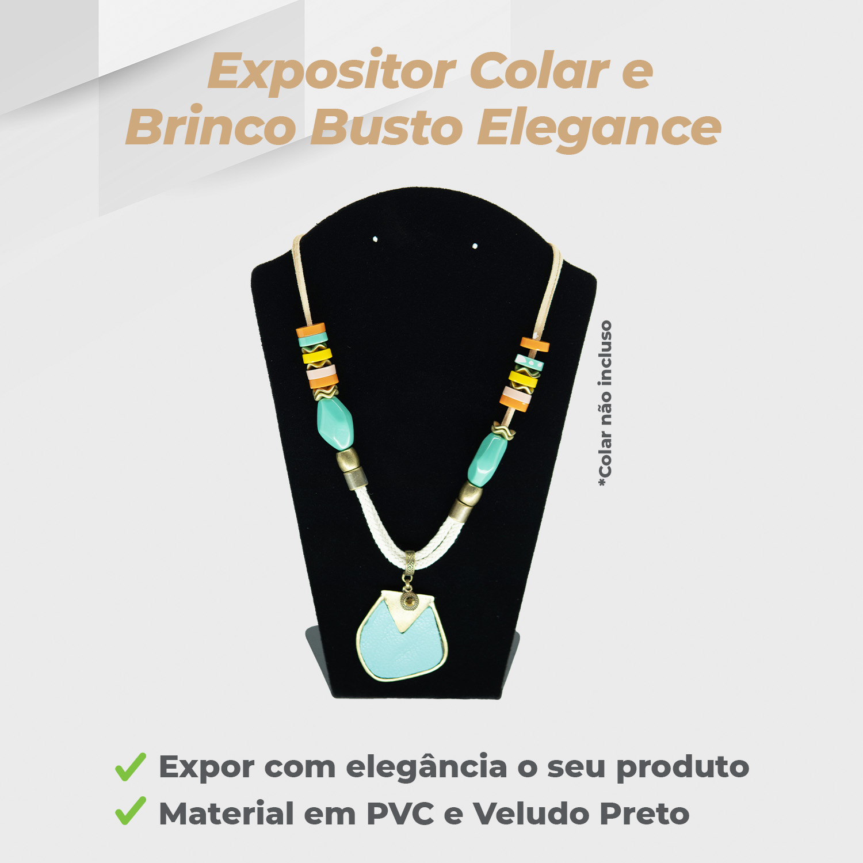 Expositor Colar Busto Elegance Veludo Preto