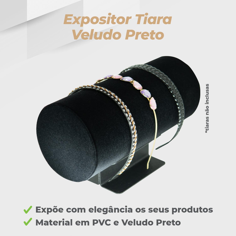 Expositor Tiara Veludo Preto