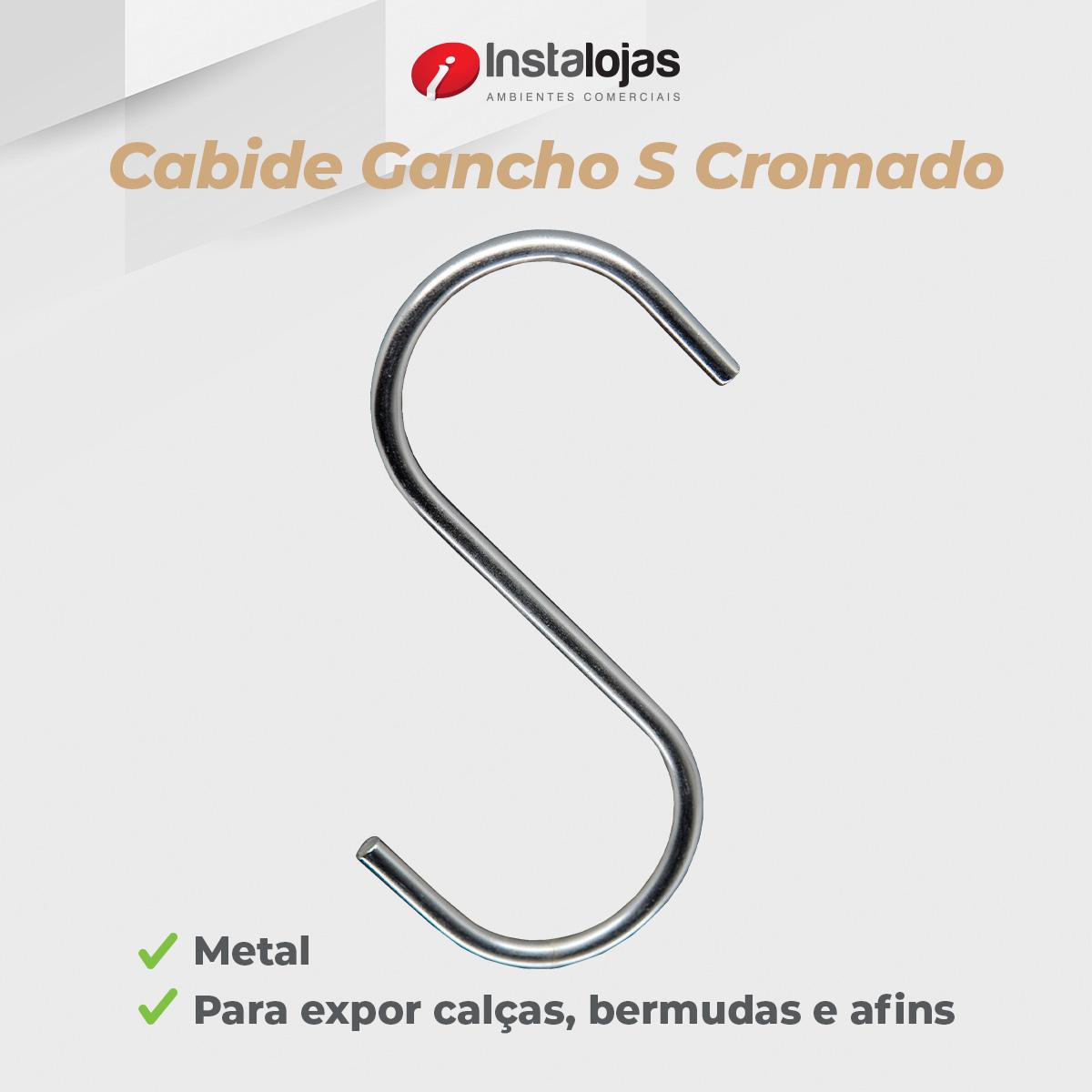 Gancho S Cromado - 10 Unidades
