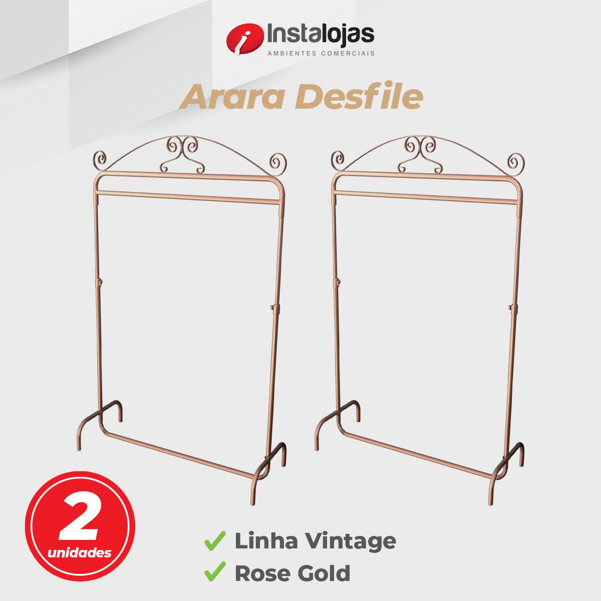 Kit Arara Desfile Vintage 1,00mt Rosé Gold Regulável - 2 Unidades