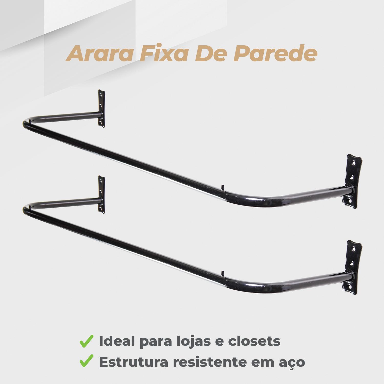 Kit Arara Fixa de Parede 1,00mt - 2 Unidades