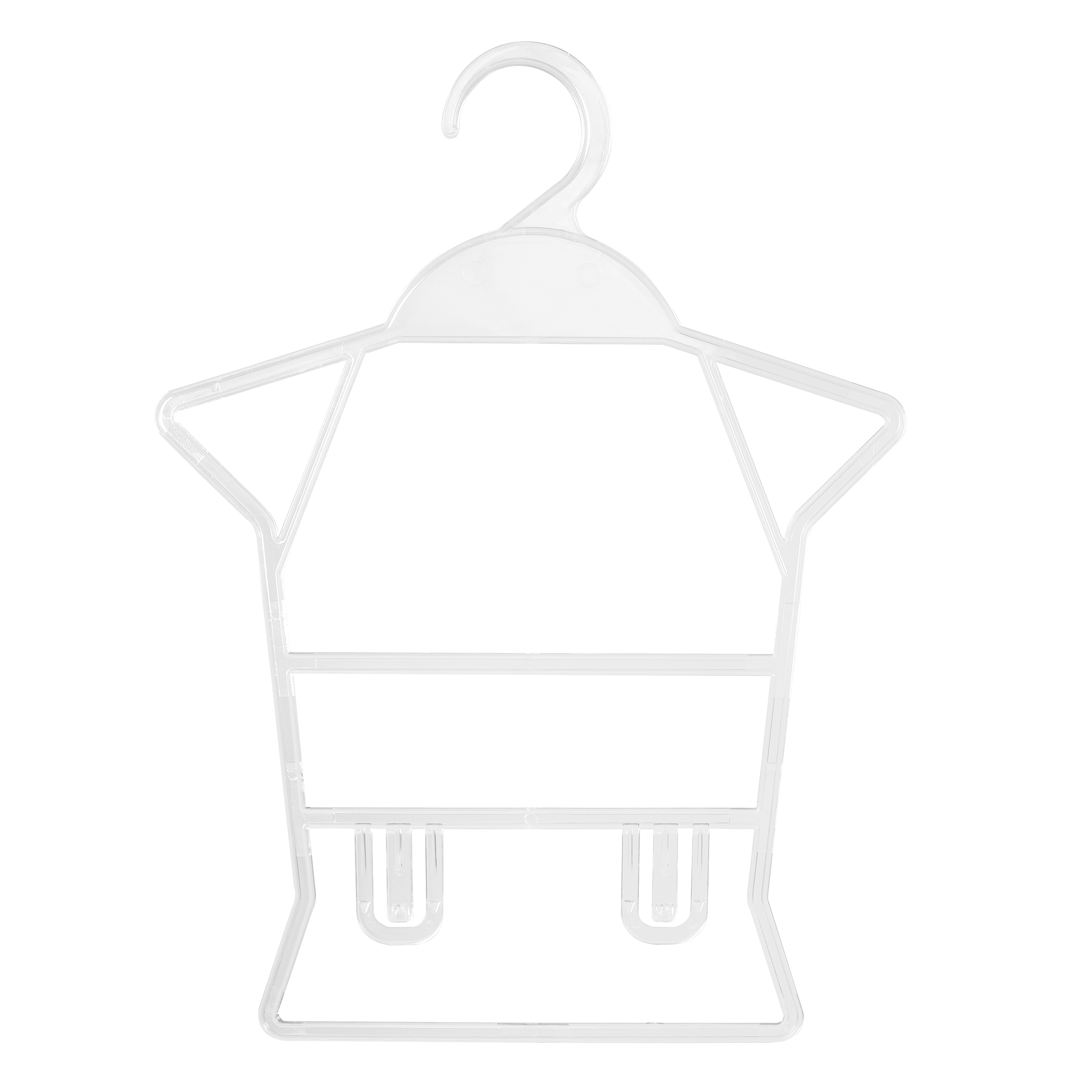 Kit Cabide Silhueta Bebê Conjunto Acrílico - 10 Unidades