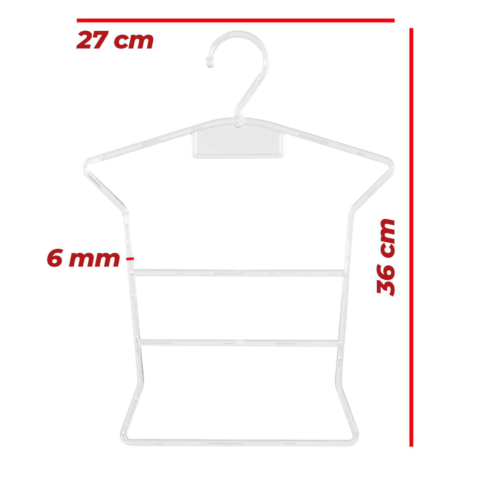 Kit Cabide Silhueta Bebê Transparente - 10 Unidades