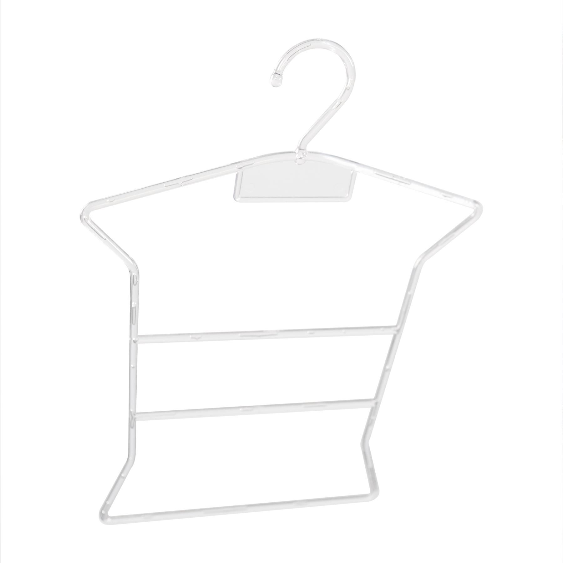 Kit Cabide Silhueta Bebê Transparente - 20 Unidades