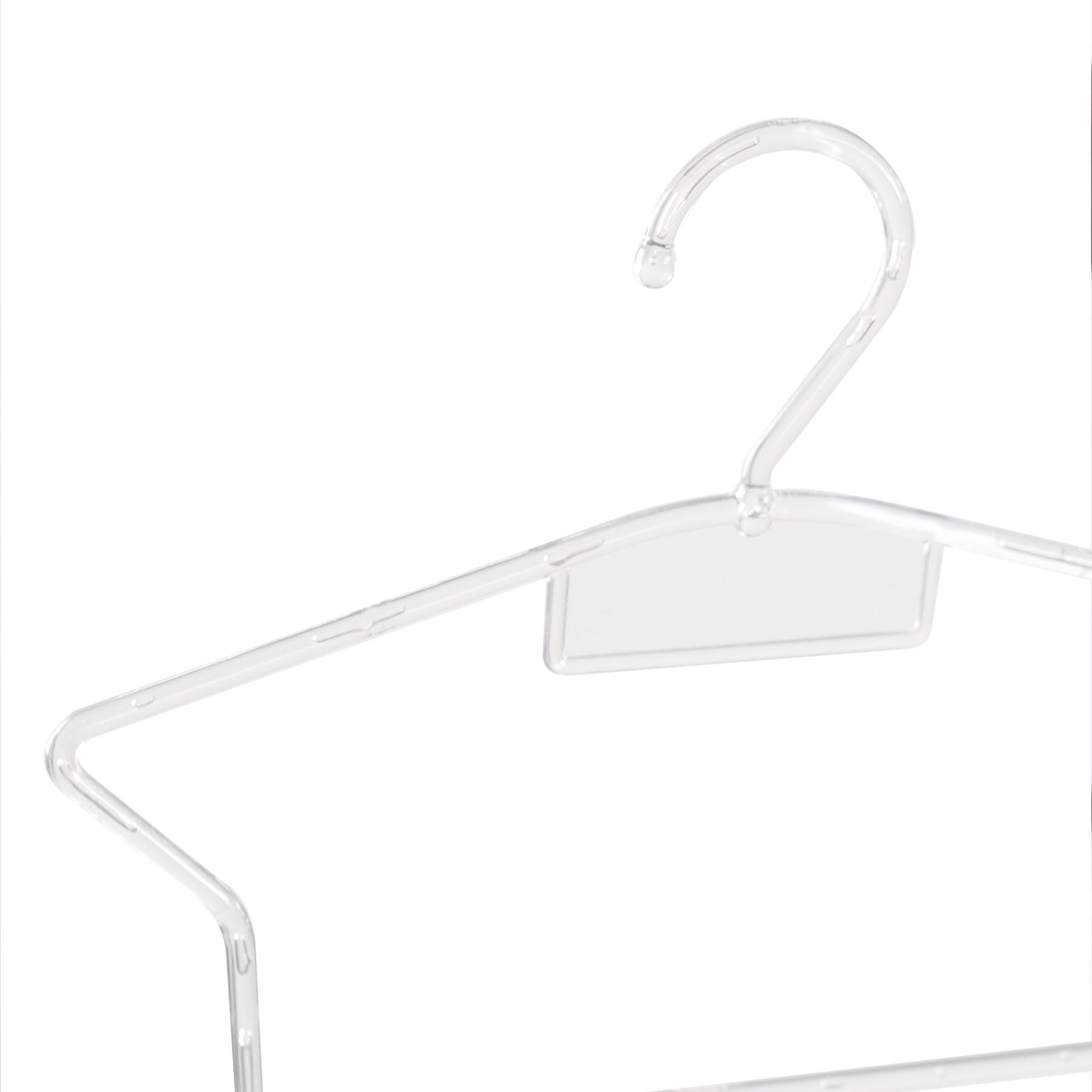 Kit Cabide Silhueta Bebê Transparente - 5 Unidades