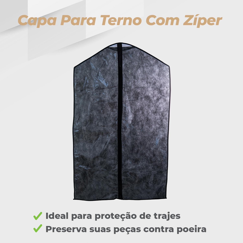 Kit Capa Terno Zíper Preto - 10 Unidades