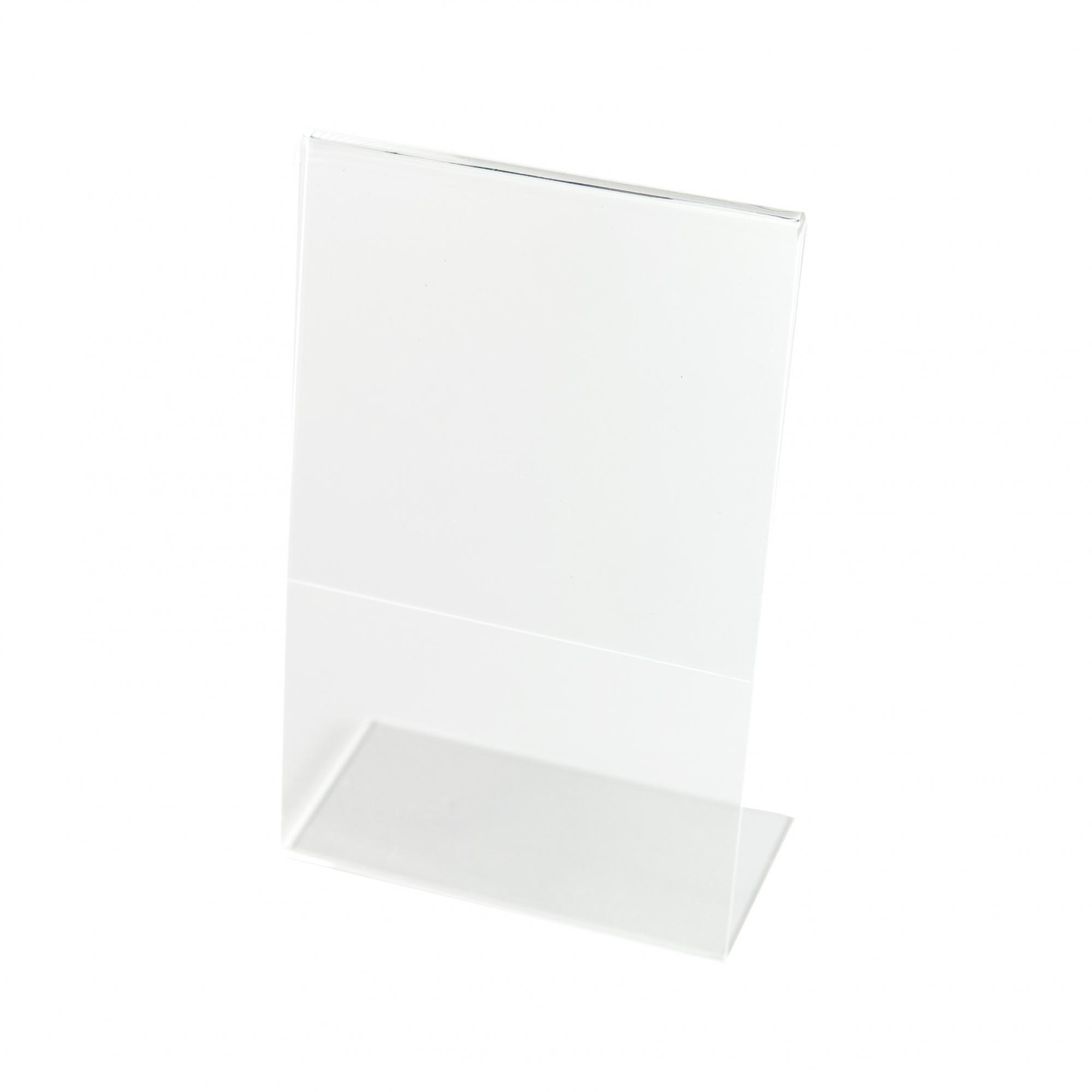 Kit Porta Preço Transparente 21x15cm - 5 Unidades