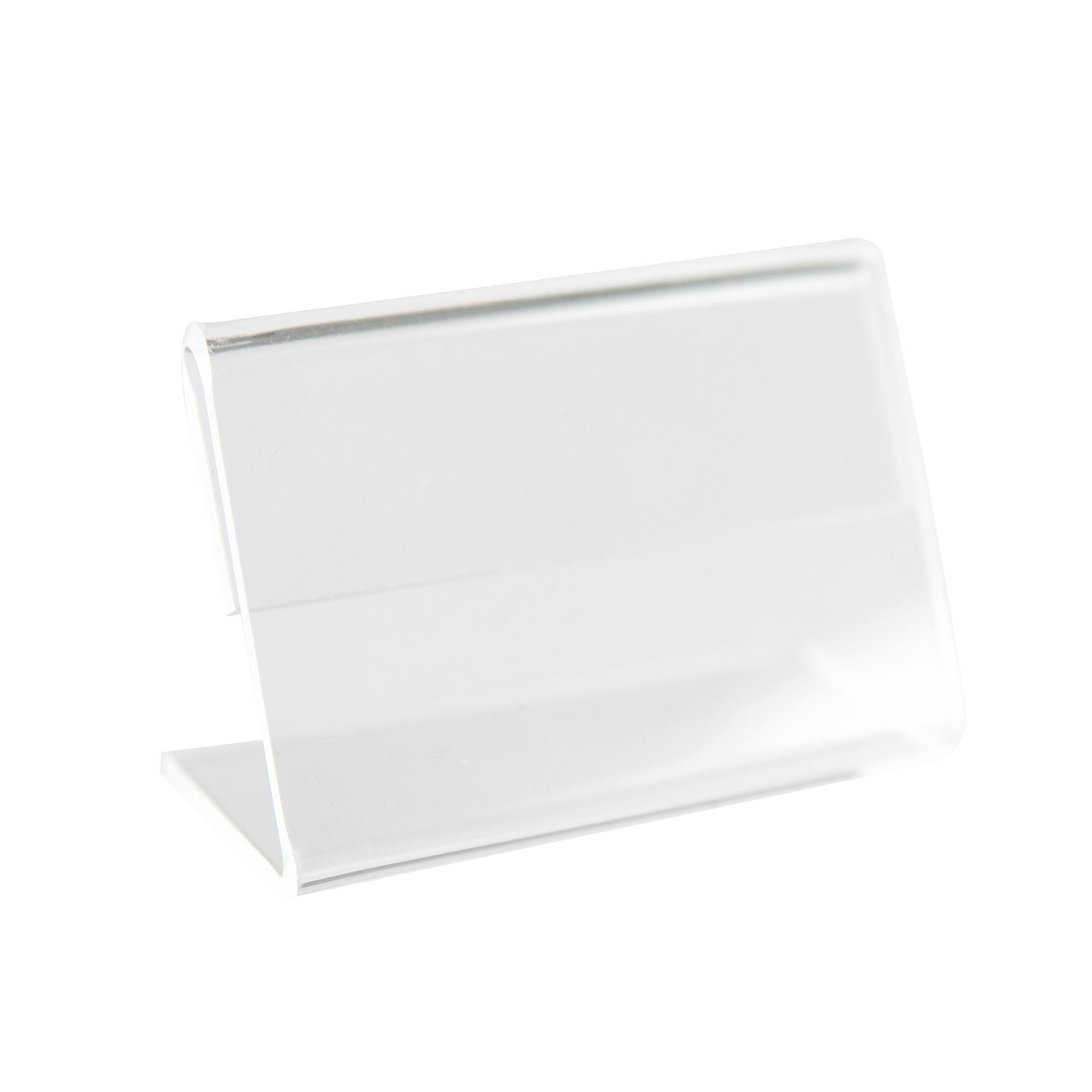Kit Porta Preço Transparente 4x2,5cm - 10 Unidades
