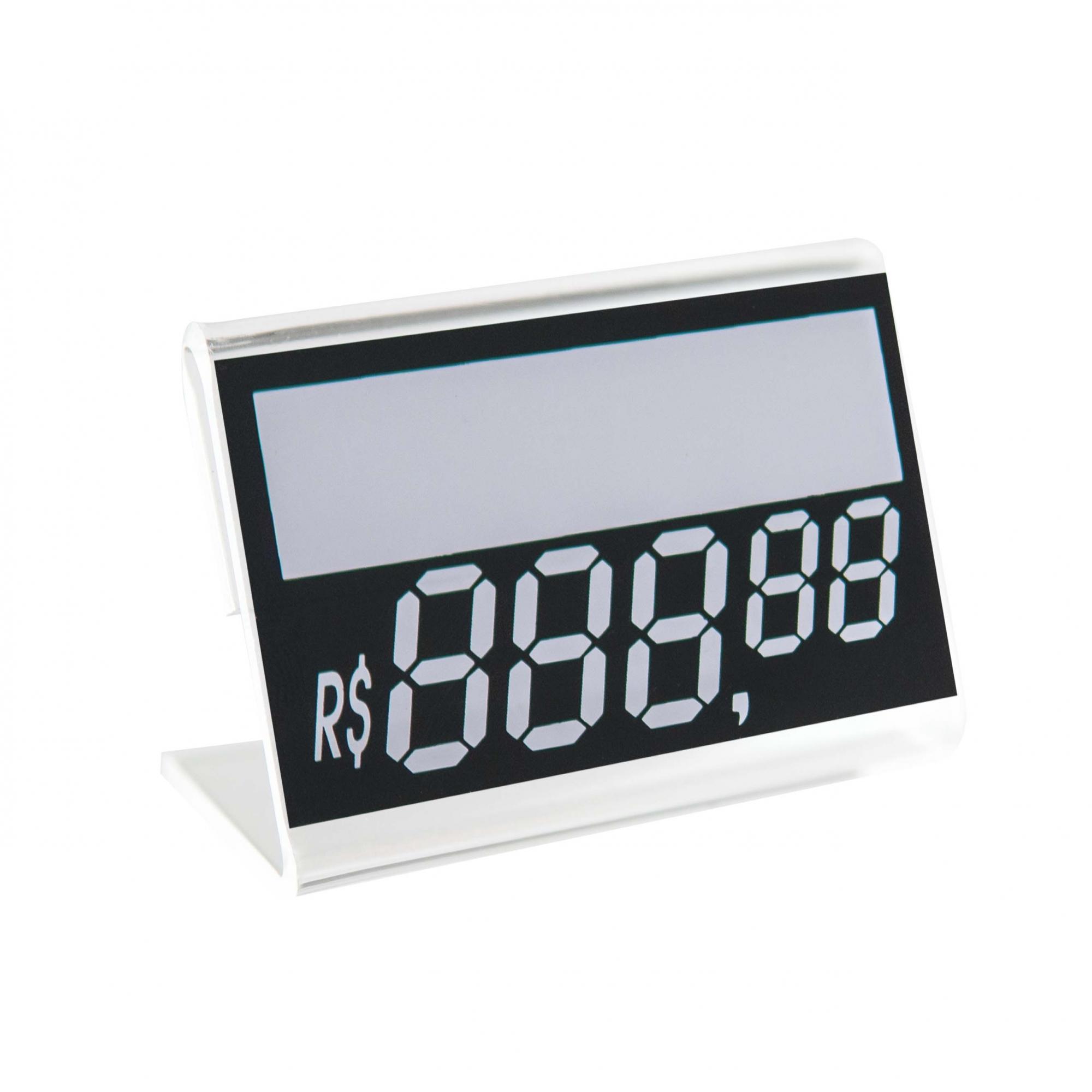 Kit Porta Preço Transparente 4x2,5cm - 30 Unidades