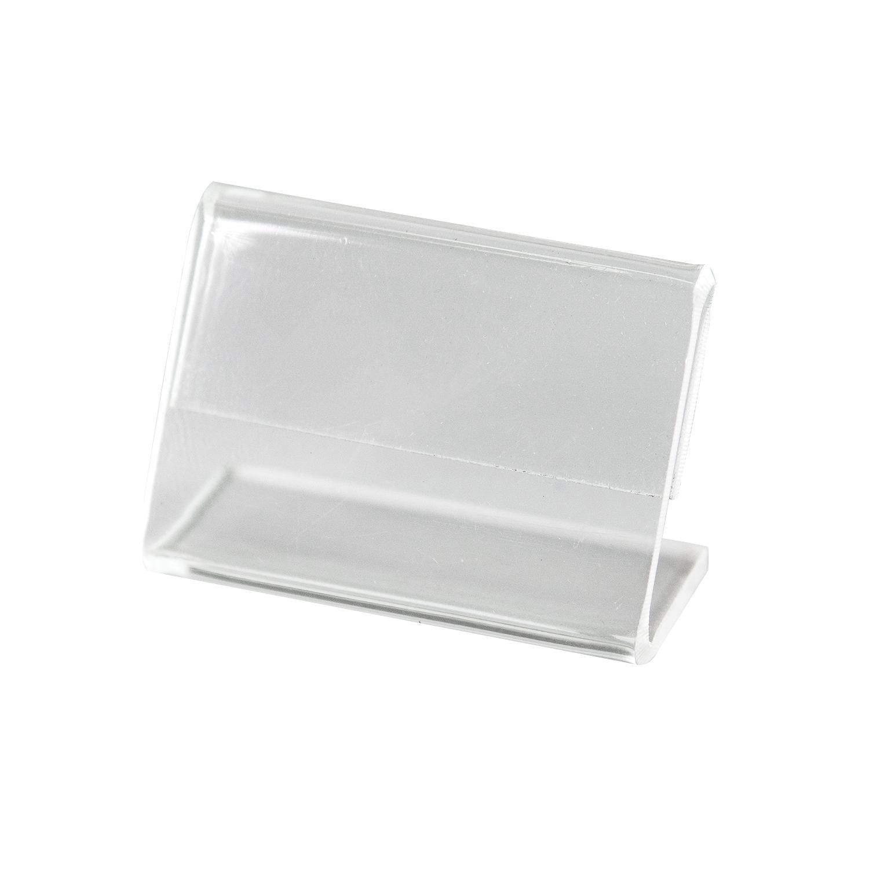 Kit Porta Preço Transparente 5x3,5cm - 10 Unidades