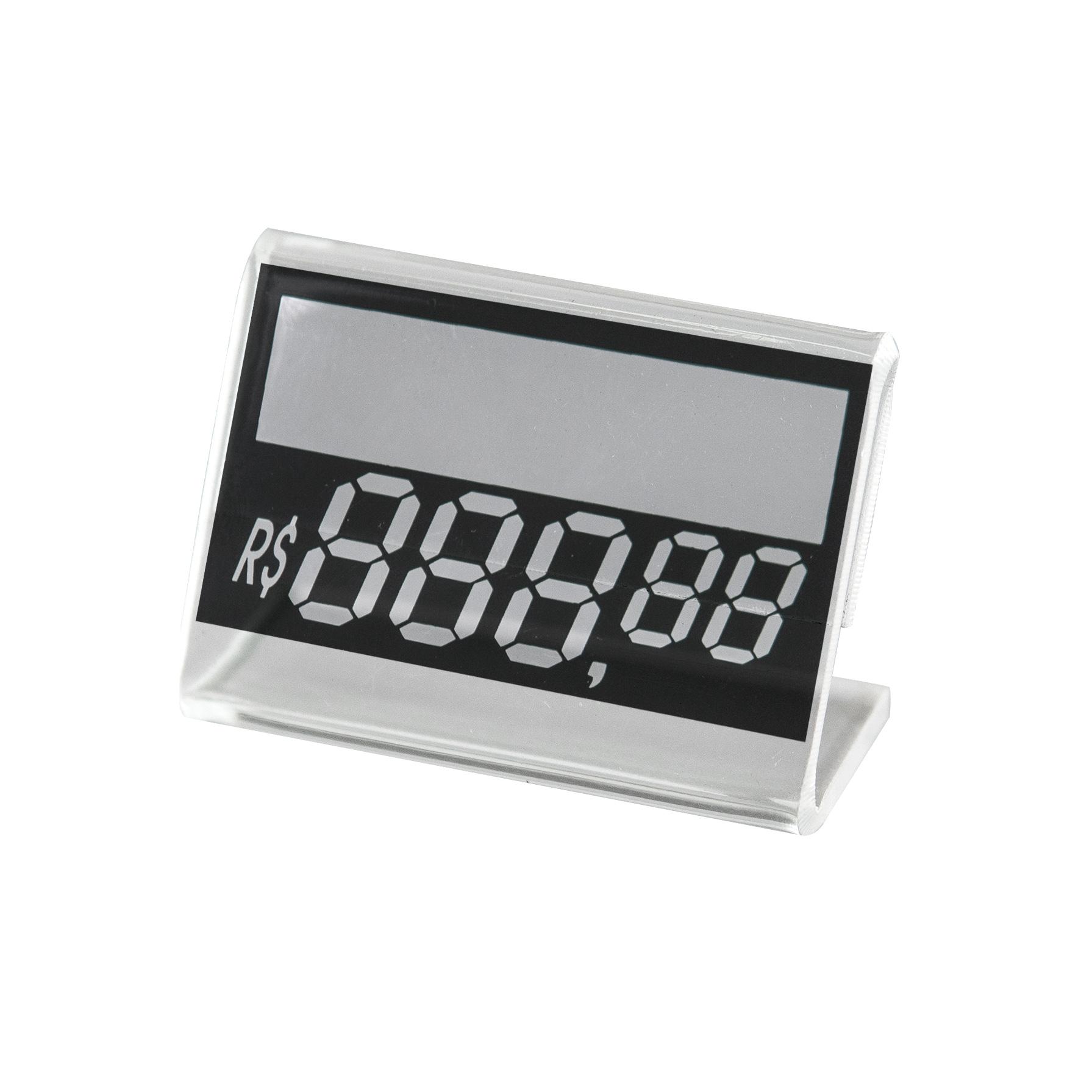 Kit Porta Preço Transparente 5x3,5cm - 30 Unidades