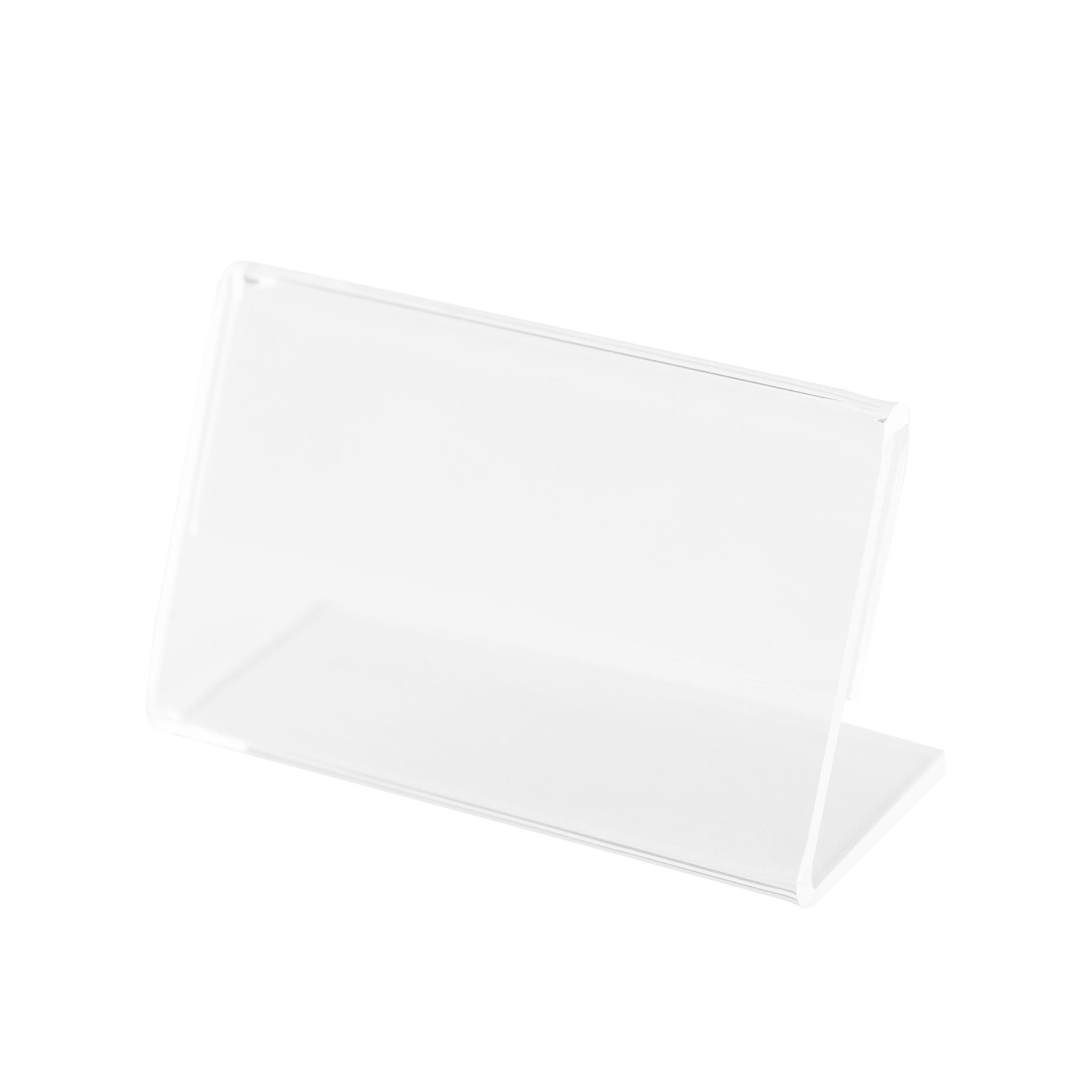 Kit Porta Preço Transparente 7x4,5cm - 10 Unidades