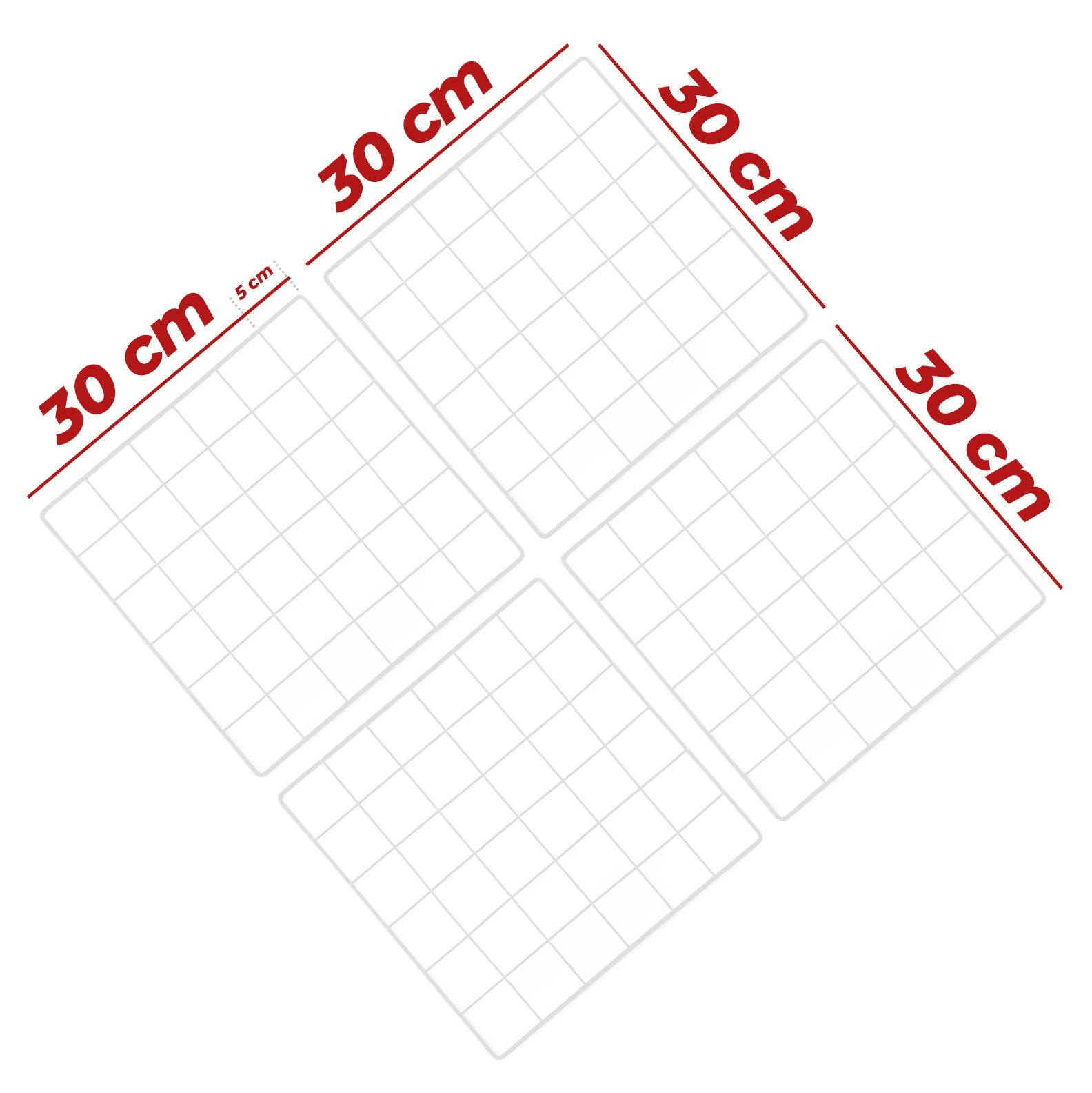 Kit Tela Mural Memory Board 30x30cm - 4 Unidades