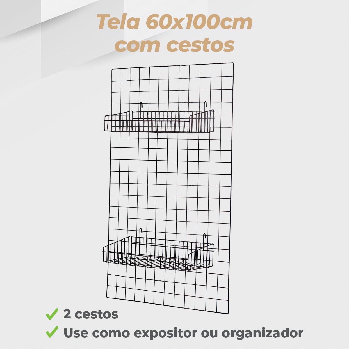 Kit Tela 60x100cm + 2 Cestos Tela 20x40cm