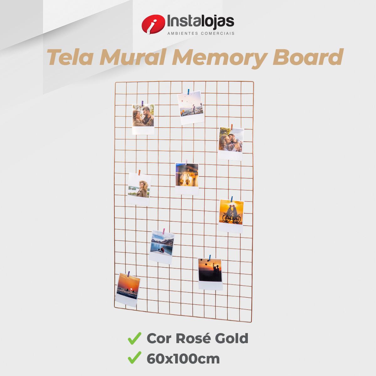 Kit Tela 60x100cm Rosé Gold + 10 Prendedores Cores Sortidas