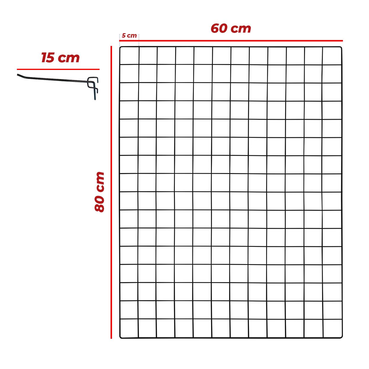 Kit Tela 60x80cm + 10 Ganchos 15cm