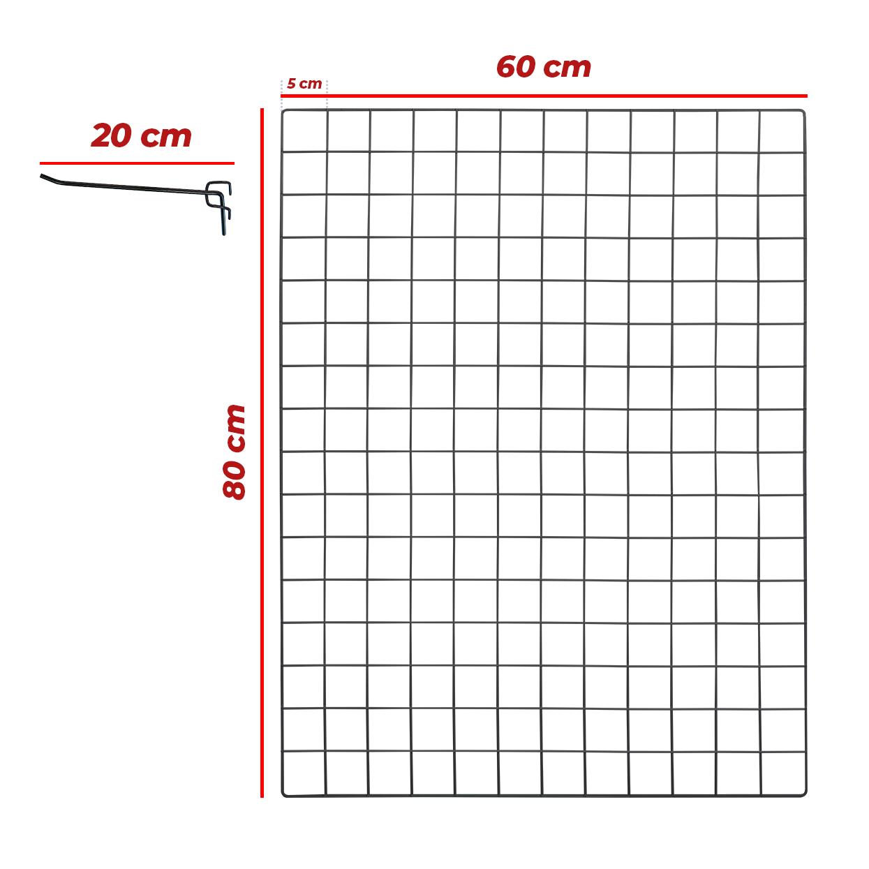 Kit Tela 60x80cm + 10 Ganchos 20cm