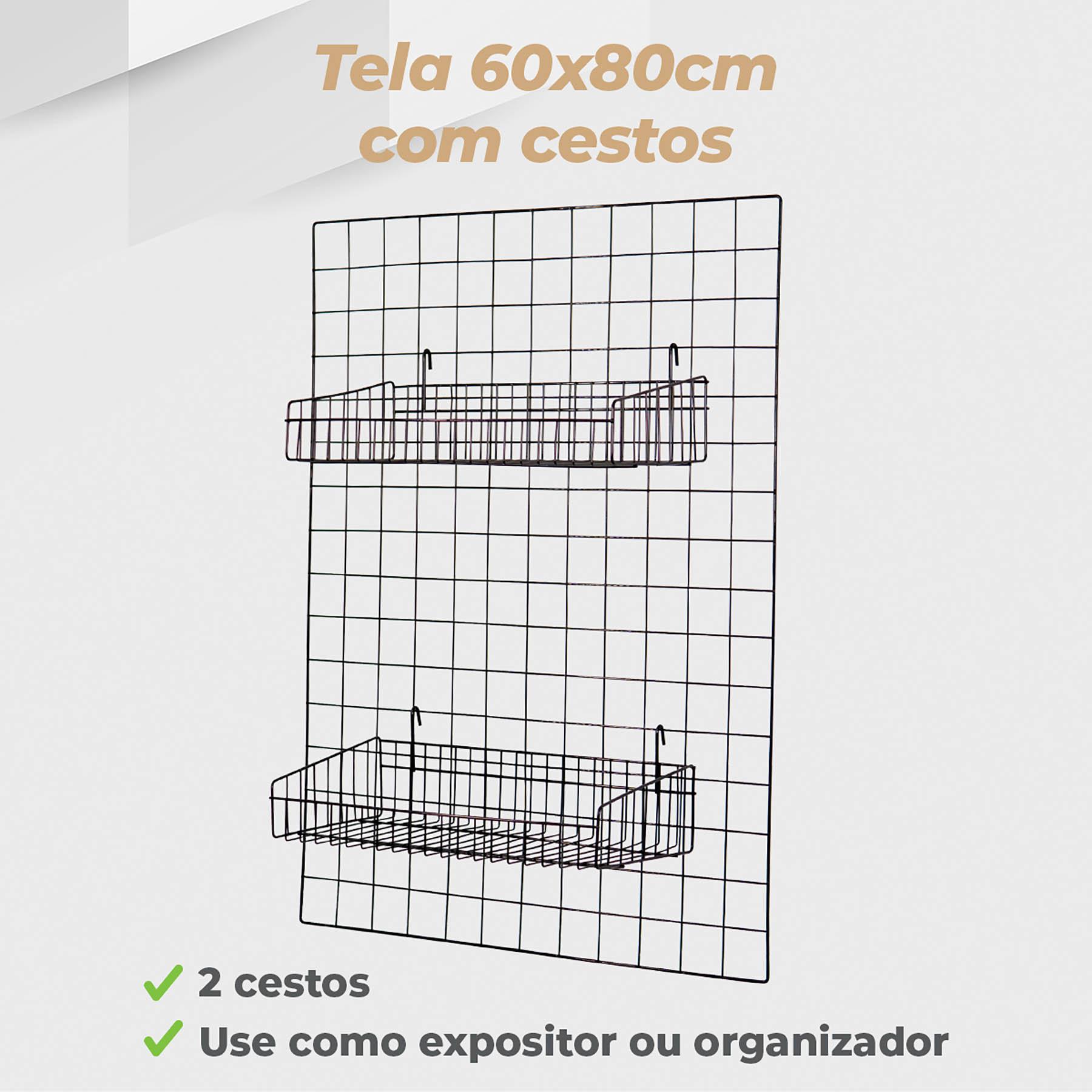 Kit Tela 60x80cm + 2 Cestos Tela 20x40cm