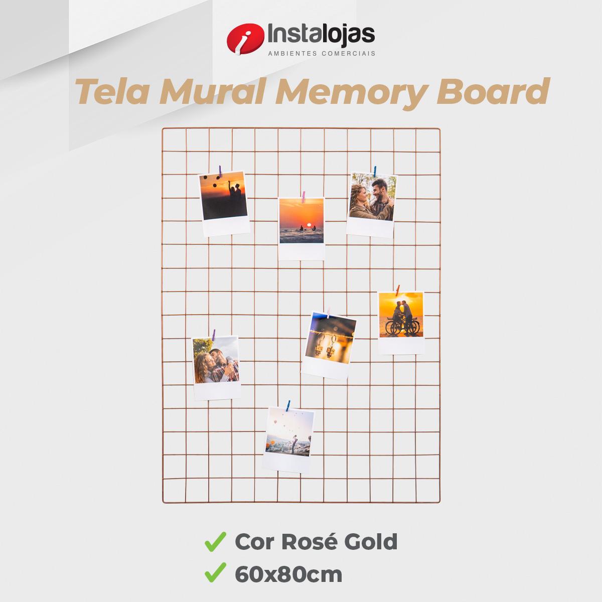 Kit Tela 60x80cm Rosé Gold + 10 Prendedores Cores Sortidas