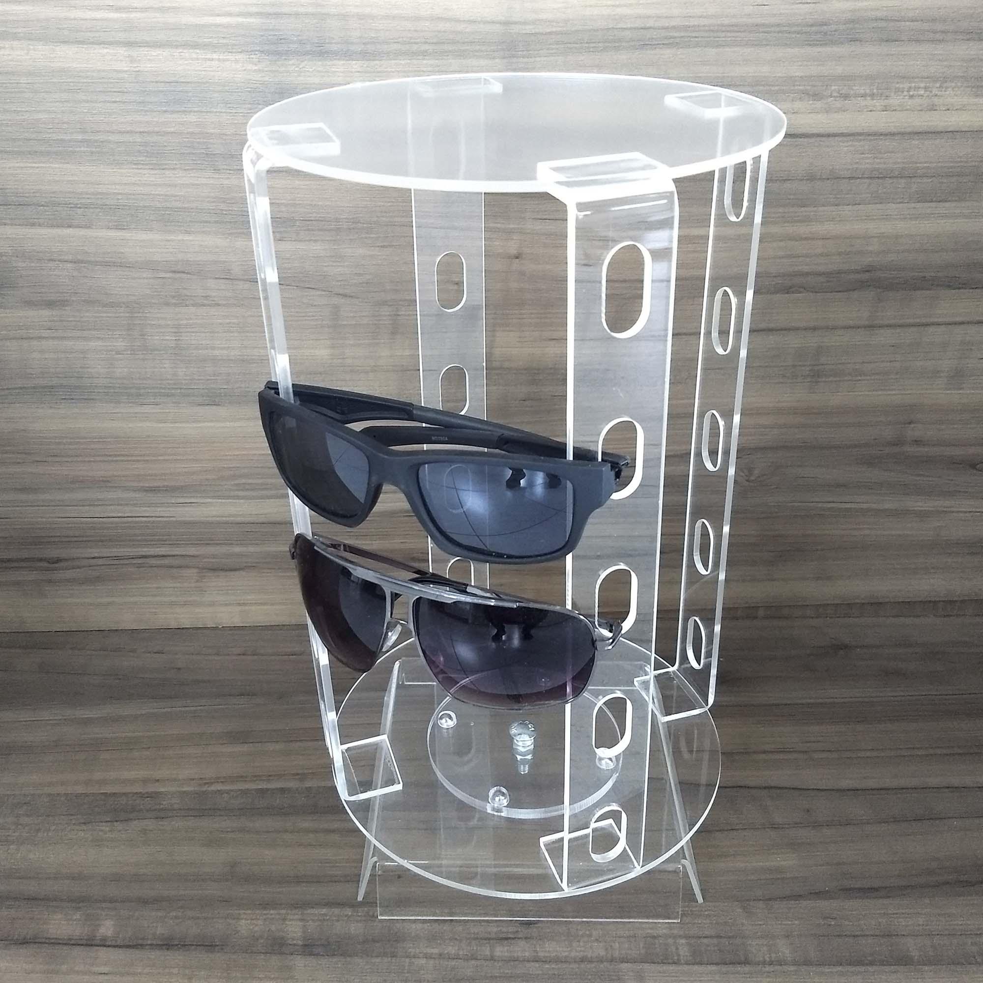 Porta Óculos Giratório Acrílico