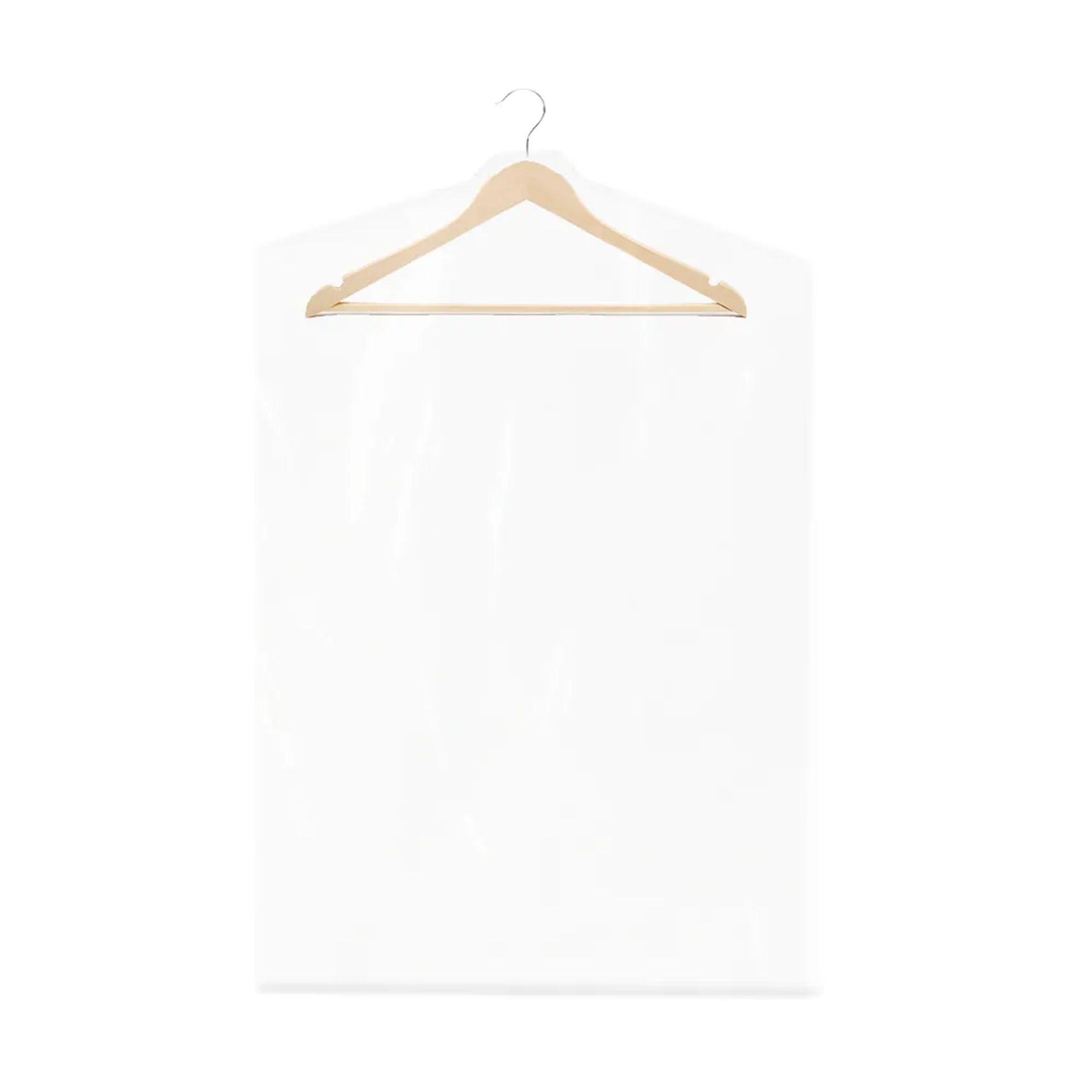 Saco Plástico para Cabide (Ombreira) Transparente - Pacote 5 unidades