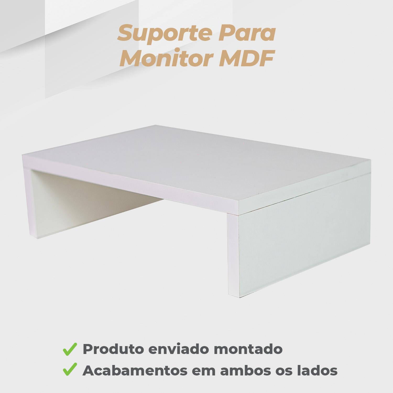 Suporte Monitor MDF Branco