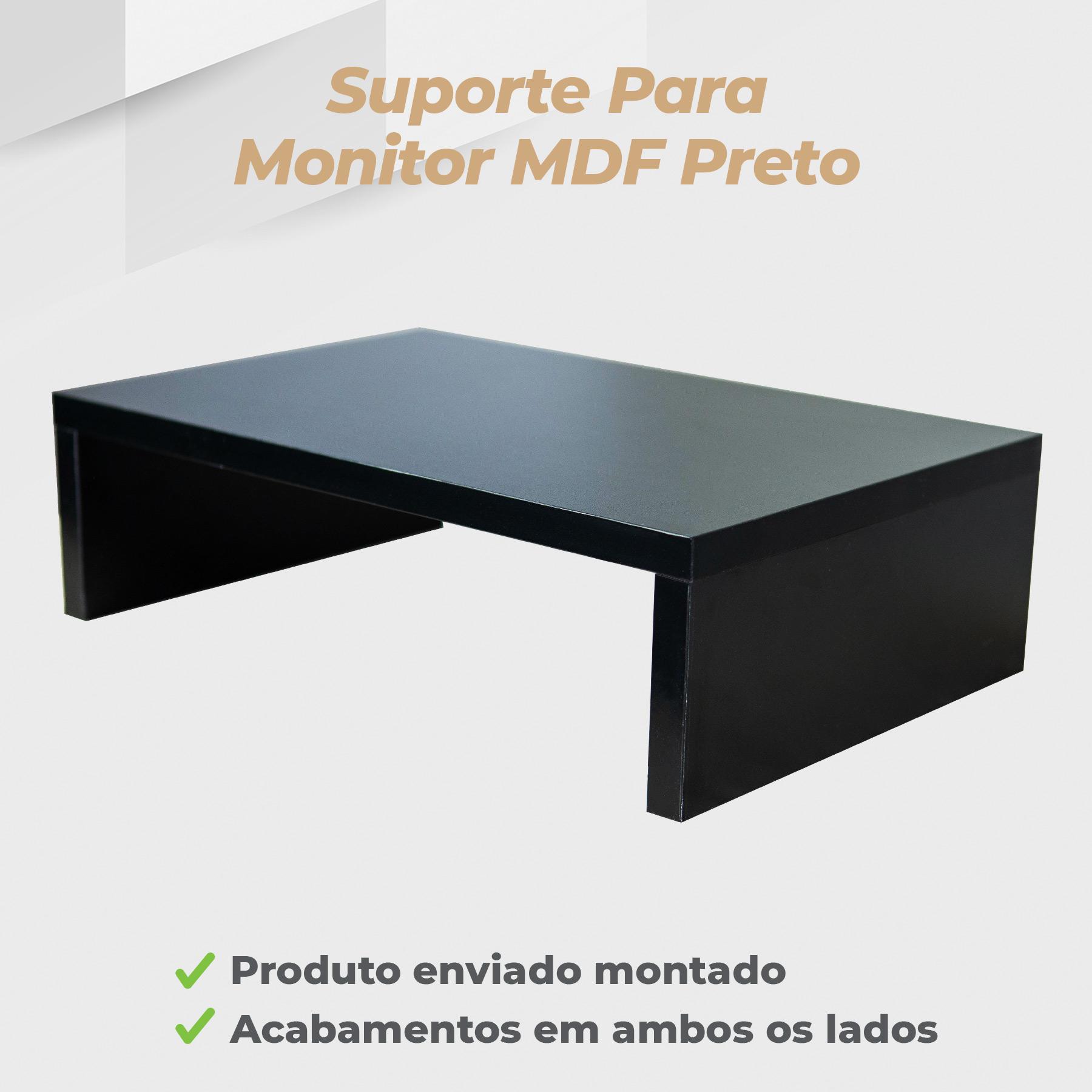 Suporte Monitor MDF Preto
