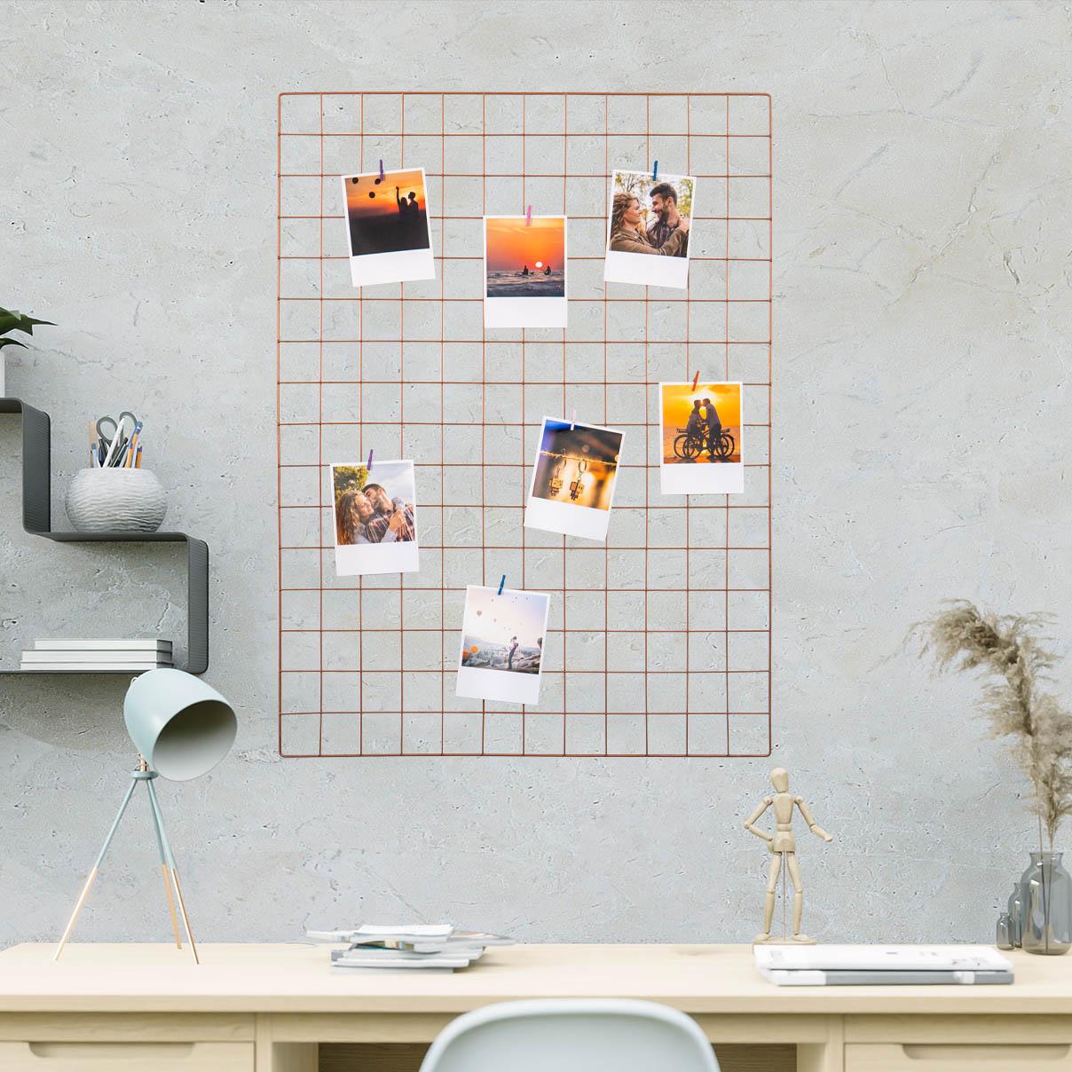 Tela Mural Memory Board 60x80cm Rosé Gold