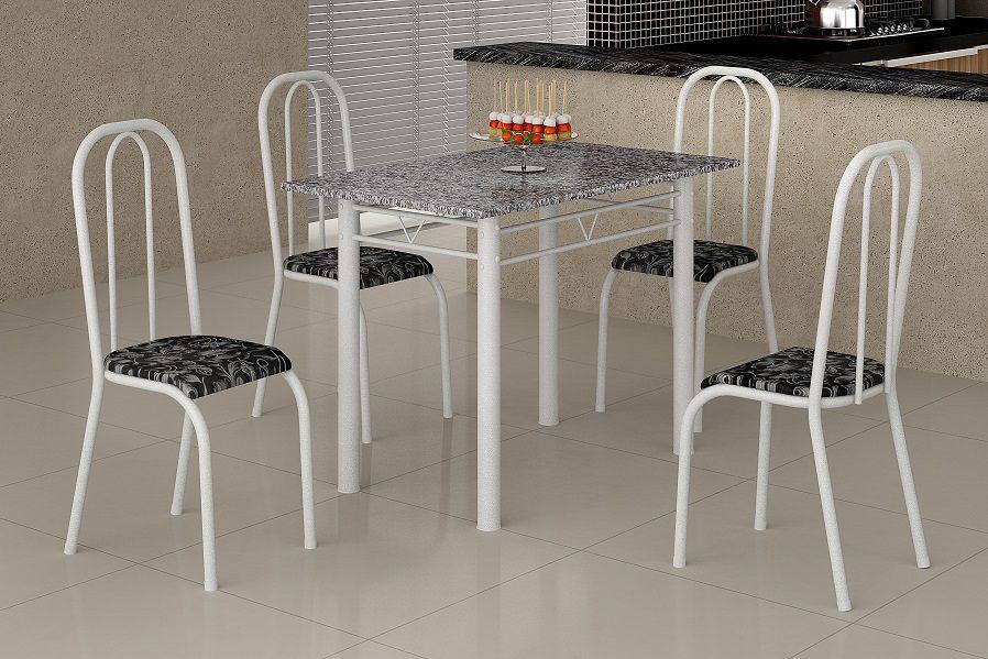 Conjunto de Mesa 1.00X0.60 4 Cadeiras Guarujá Tampo Granito