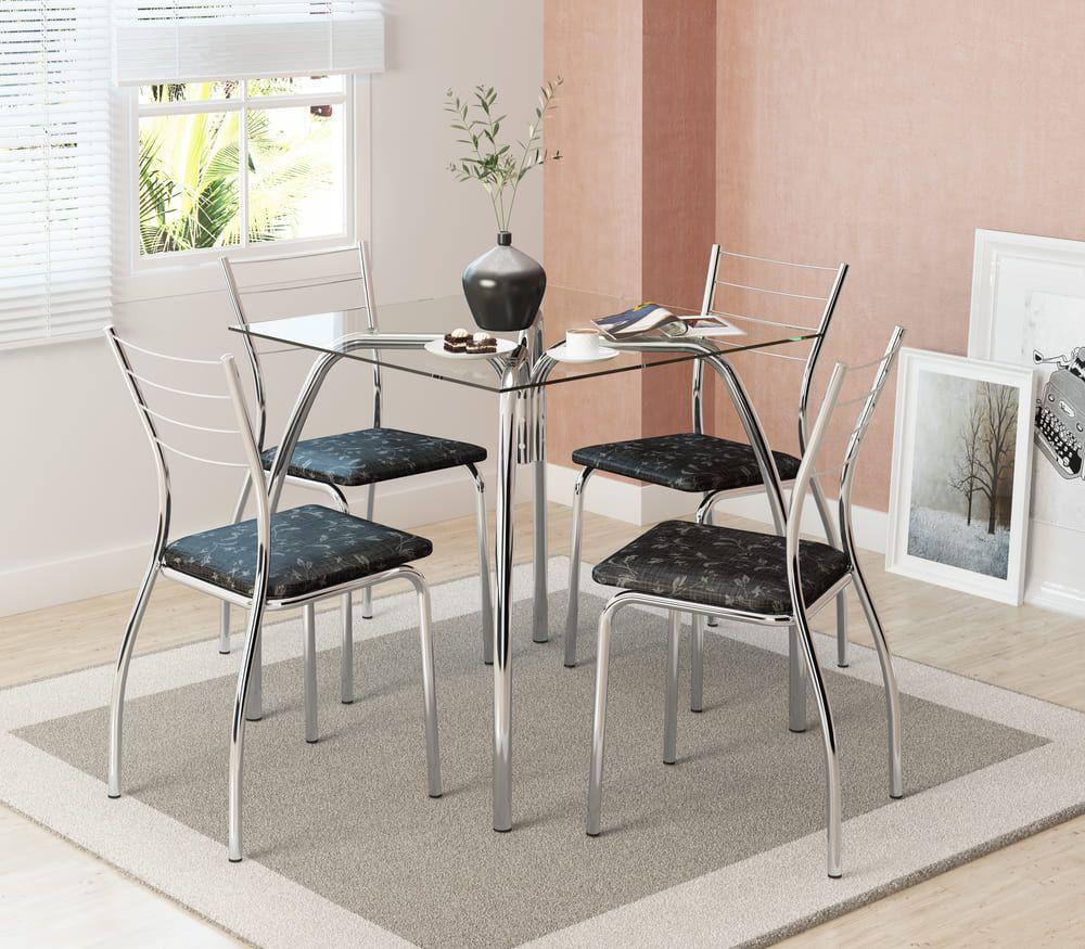 Mesa de Jantar 4 Lugares 1502 com cadeiras 1700