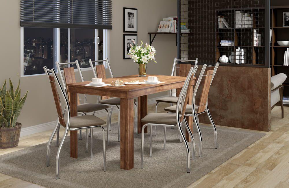 Mesa de Jantar 6 Lugares 1543 com cadeiras 1720