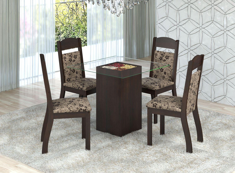 Mesa de Jantar Adri 4 Cadeiras
