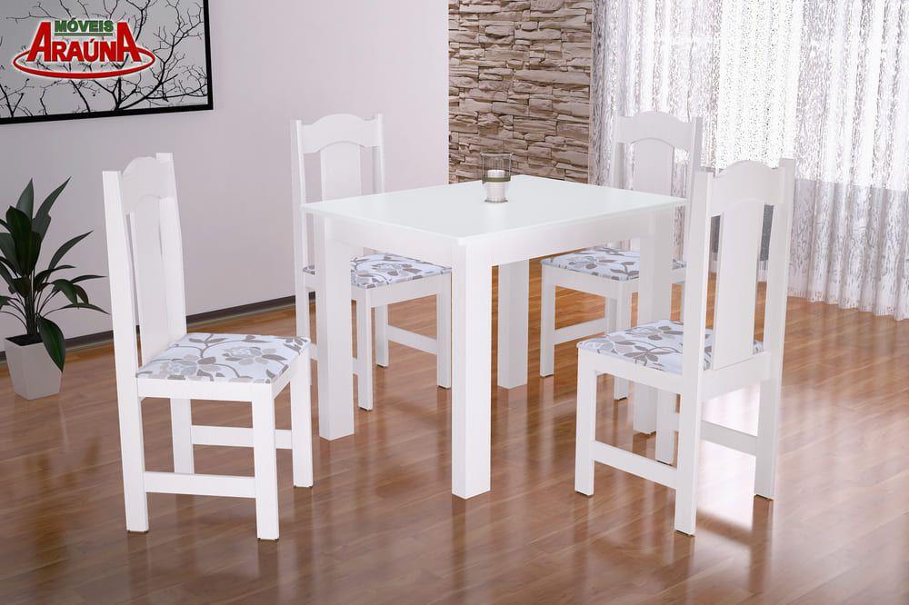 Mesa de Jantar Estilo 4 Cadeiras