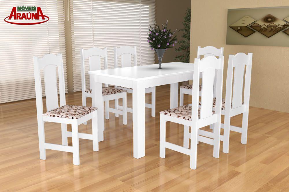 Mesa de Jantar Estilo 6 Cadeiras