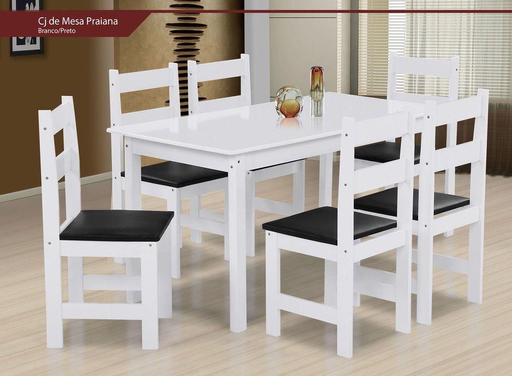 Mesa de Jantar Praiana 6 Cadeiras