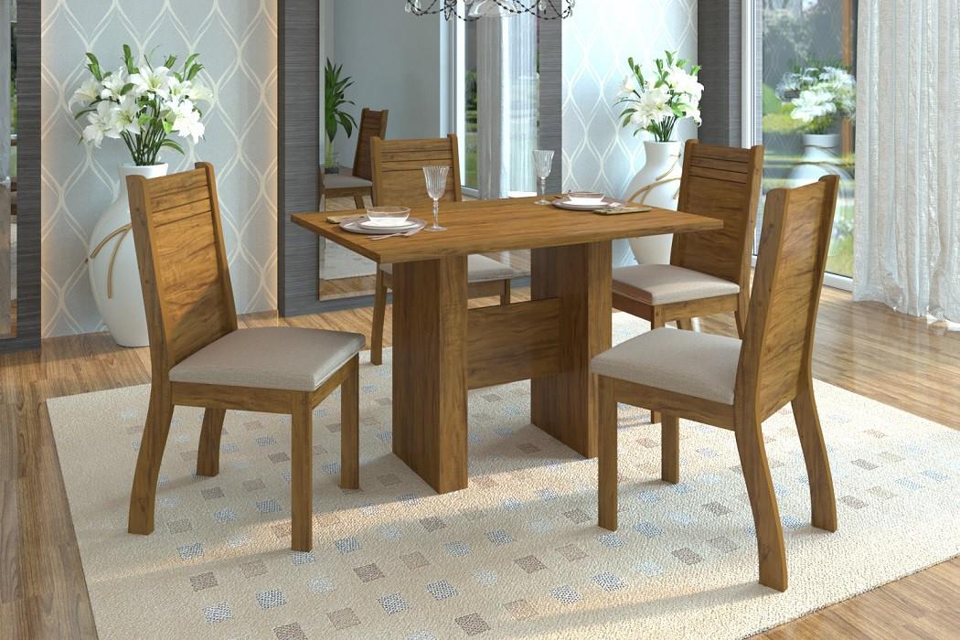 Mesa de Jantar Quick 4 Cadeiras
