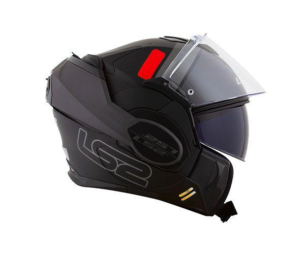 Capacete Articulável LS2 FF 399 Valiant  Prox Preto - C/ Óculos Solar