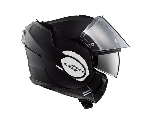 Capacete Articulável LS2 FF 399 Valiant Preto Fosco - C/ Óculos Solar
