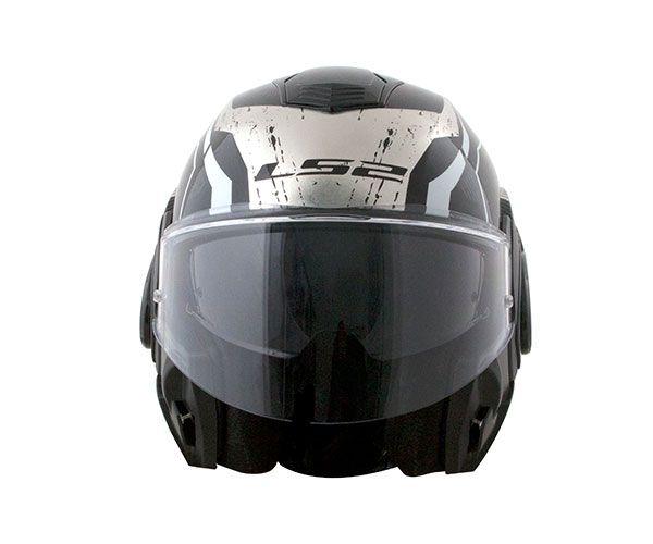 Capacete Articulável LS2 FF 399 Valiant  Roboto - C/ Óculos Solar