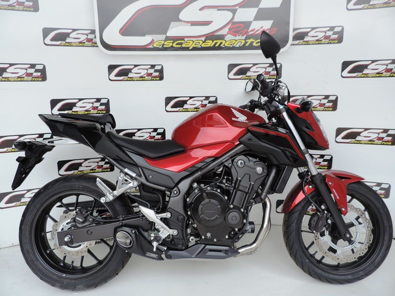 Escapamento Esportivo Full | CS Racing | Honda CB500