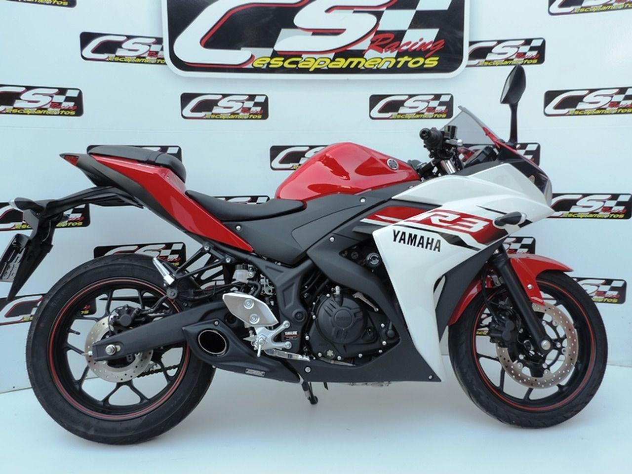 Escapamento Esportivo Full   CS Racing   Yamaha R3